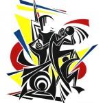 - BASKETBALL - Acryl auf Fotogramm - 50 x 60 cm - 1995l