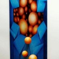 - DA 2 A 3 DIMENSIONI - Acrryl Styropor Holz Leinwand - 220 x 100 x 100 cm - 2009