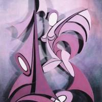 - FARFALLA - Acryl Stereodur auf Hartfaser - 70 x 50 cm - 1996
