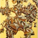 - GUERRIERO - Acryl und Filzstifte auf Leinwand Fotogramm - 50 x 100 cm - 2005l