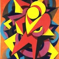 - UMARMUNG 3 - Acryl auf Baumvollpapier - 50 x 70 cm - 1991
