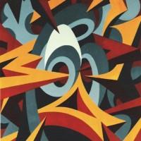 - UMARMUNG 5 - Acryl auf Baumvollpapier - 50 x 70 cm - 1991