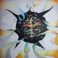 - AUGMENTED REALITY - Pastellkreide auf Leinwand - 180 x 180 cm - 2012
