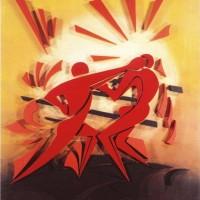 - BOXEN - Acryl Stereodur auf Hartfaser - 120 x 100 cm - 1996