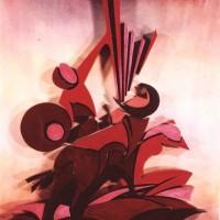 - EUROPA - Acryl Stereodur auf Hartfaser - 70 x 50 cm - 1996