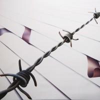 - FILO SPINATO - Pastellkreide auf Leinwand - 180 x 140 cm - 2009