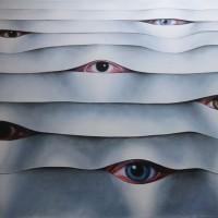 - IN CERCA DI...- Pastellkreide auf Leinwand - 200 x 160 cm - 2009