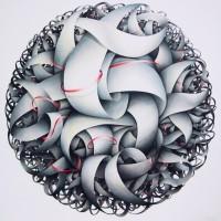 - INTRECCIO - Pastellkreide auf Leinwand - 180 x 180 cm - 2011