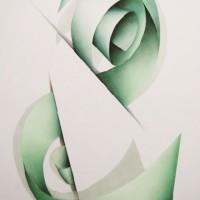 - SOTTOSOPRA 7 - Pastellkreide auf Leinwand - 70 x 50 cm, 2010