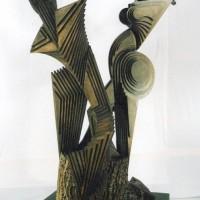 - VEBUNDENHEIT - Holz - 180 x 80 x 80 cm - 2004